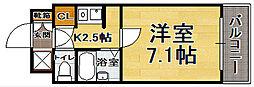 福岡県福岡市中央区大手門2の賃貸マンションの間取り