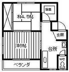 戸田アパート[102号室]の間取り