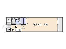 ディライト楽々園[102号室]の間取り