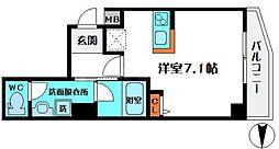 HR・FRONT・REGAL新森 4階ワンルームの間取り