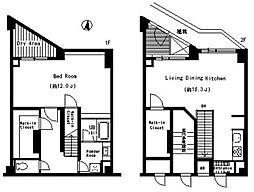 ベルファース三宿 地下1階1SLDKの間取り