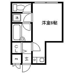 東京都国分寺市本町4の賃貸マンションの間取り