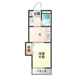 ワールドマンション[303号室]の間取り