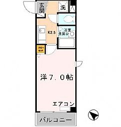 ロイヤルカーサ阿倍野[2階]の間取り