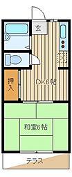 昌栄コーポ[1階]の間取り