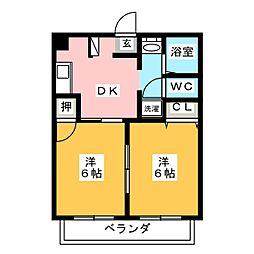 三鈴ノール[5階]の間取り