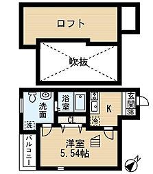 ザミューズフラットフラット箱崎[2階]の間取り