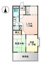 ロイヤルタムラバラ館[1階]の間取り
