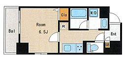 都営新宿線 菊川駅 徒歩4分の賃貸マンション 2階1Kの間取り