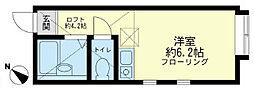 ユナイト小田栄 シャンティー[1階]の間取り