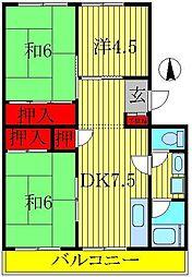 ドエル・ホーユー江戸川台[1階]の間取り