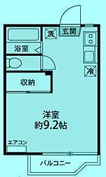 フォーブル向ヶ丘A棟[203号室]の間取り