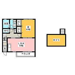 Rioきよ川A棟[1階]の間取り