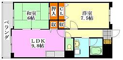 メゾンIII[4階]の間取り