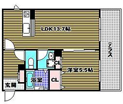 Ambiera千代田[1階]の間取り