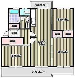 ヴィラナリー狭山 8号棟[2階]の間取り