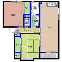 グレースコートA棟[1階]の間取り