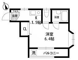 東京都町田市玉川学園2丁目の賃貸アパートの間取り