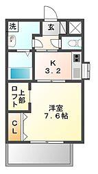 GRACE・FORT・TATUMI[2階]の間取り