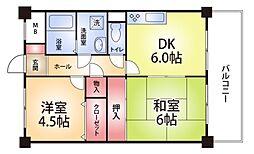 兵庫県神戸市長田区大橋町1の賃貸マンションの間取り
