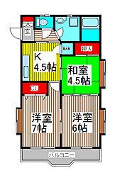 DREAM CITY HOUSE[2階]の間取り