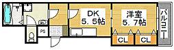 カビーネ北長尾[3階]の間取り