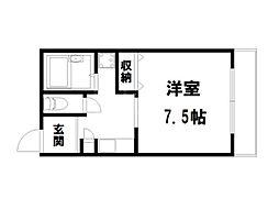 CASA YAMABUN[4階]の間取り