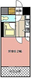 ギャラン黒崎[1206号室]の間取り