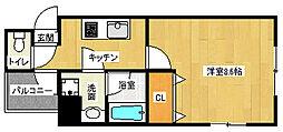 京都府京都市上京区中之町の賃貸マンションの間取り