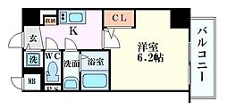S-RESIDENCE江坂Crescent 4階1Kの間取り