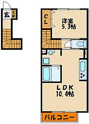ベルヴィル玉津[2階]の間取り