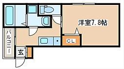 兵庫県明石市大蔵天神町の賃貸アパートの間取り