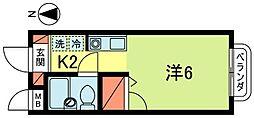 ハイムそれいゆ国分寺[2階]の間取り