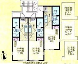 ハーミットクラブハウス戸塚C棟(ハーミットクラブハウストツカC[2階]の間取り