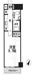 東京都千代田区神田神保町2丁目の賃貸マンションの間取り