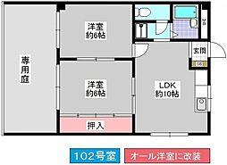 大森マンション[102号室]の間取り