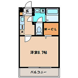 神奈川県川崎市麻生区上麻生6丁目の賃貸アパートの間取り