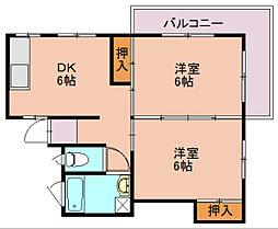 福岡県福岡市南区高木2丁目の賃貸アパートの間取り