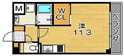 大阪府高槻市上田辺町の賃貸マンションの間取り
