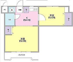 神奈川県横浜市青葉区美しが丘1丁目の賃貸マンションの間取り