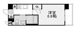 エステムコート梅田・天神橋IIグラシオ 2階1Kの間取り