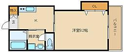 ルシエリア 桜ケ丘[203号室]の間取り