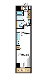 東京都品川区南大井3丁目の賃貸マンションの間取り