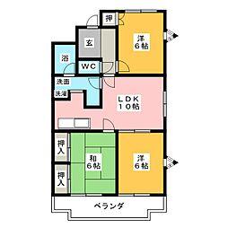 エクセル宮田[2階]の間取り