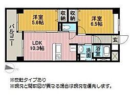 モン・ヴィラージュ佐賀駅前[406号室]の間取り