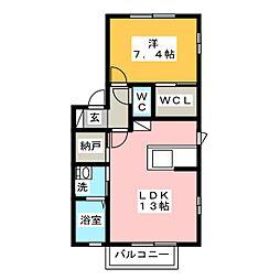 メイユール[1階]の間取り