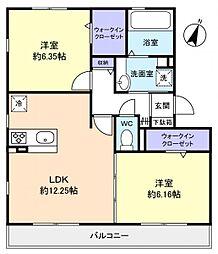 仮)レセンテ王子台A棟[2階]の間取り