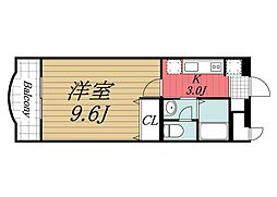 千葉県東金市堀上の賃貸マンションの間取り
