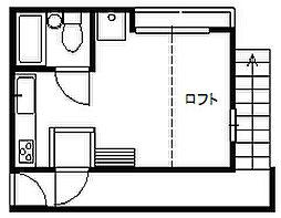 埼玉県富士見市鶴瀬西2丁目の賃貸アパートの間取り
