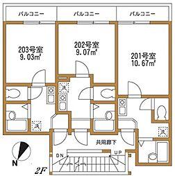 MKハイツ鶴見[2階]の間取り